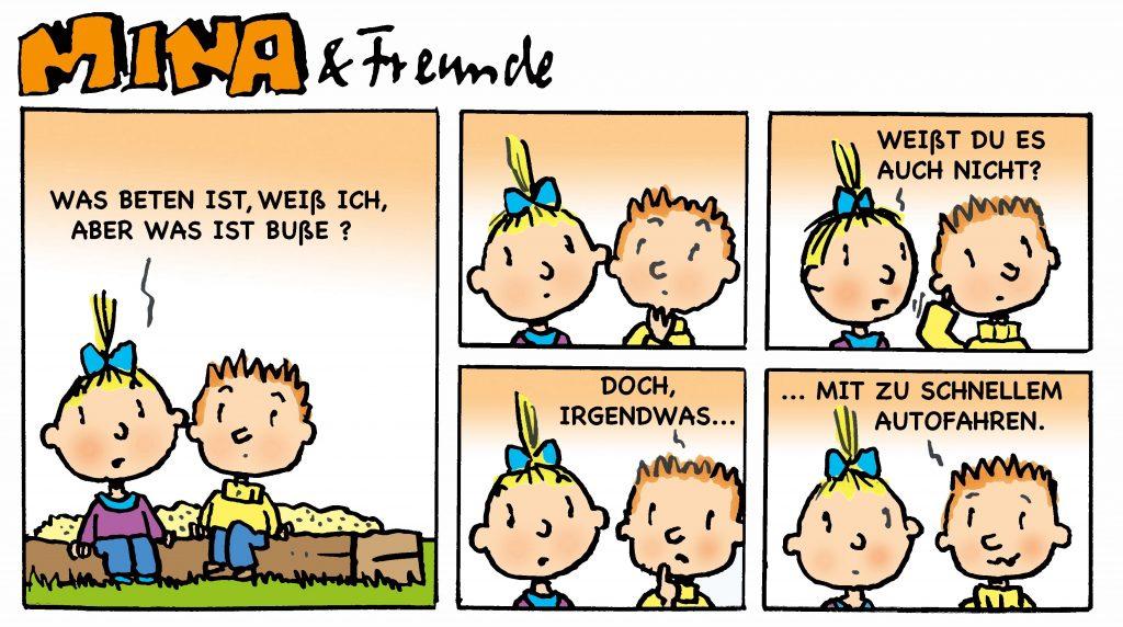 Mina und Freunde - evangelischer Comic - MITTENDRIN - Gemeindebrief für Ludwigsau