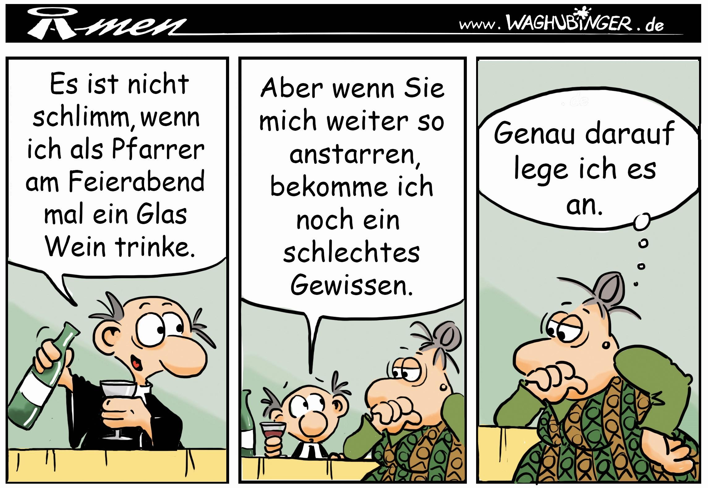 Der Pastor - evangelischer Comic - MITTENDRIN - Gemeindebrief für Ludwigsau - PROST!