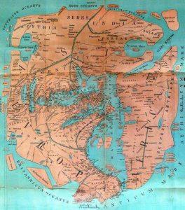 Weltkarte ca. 43 nach Christi