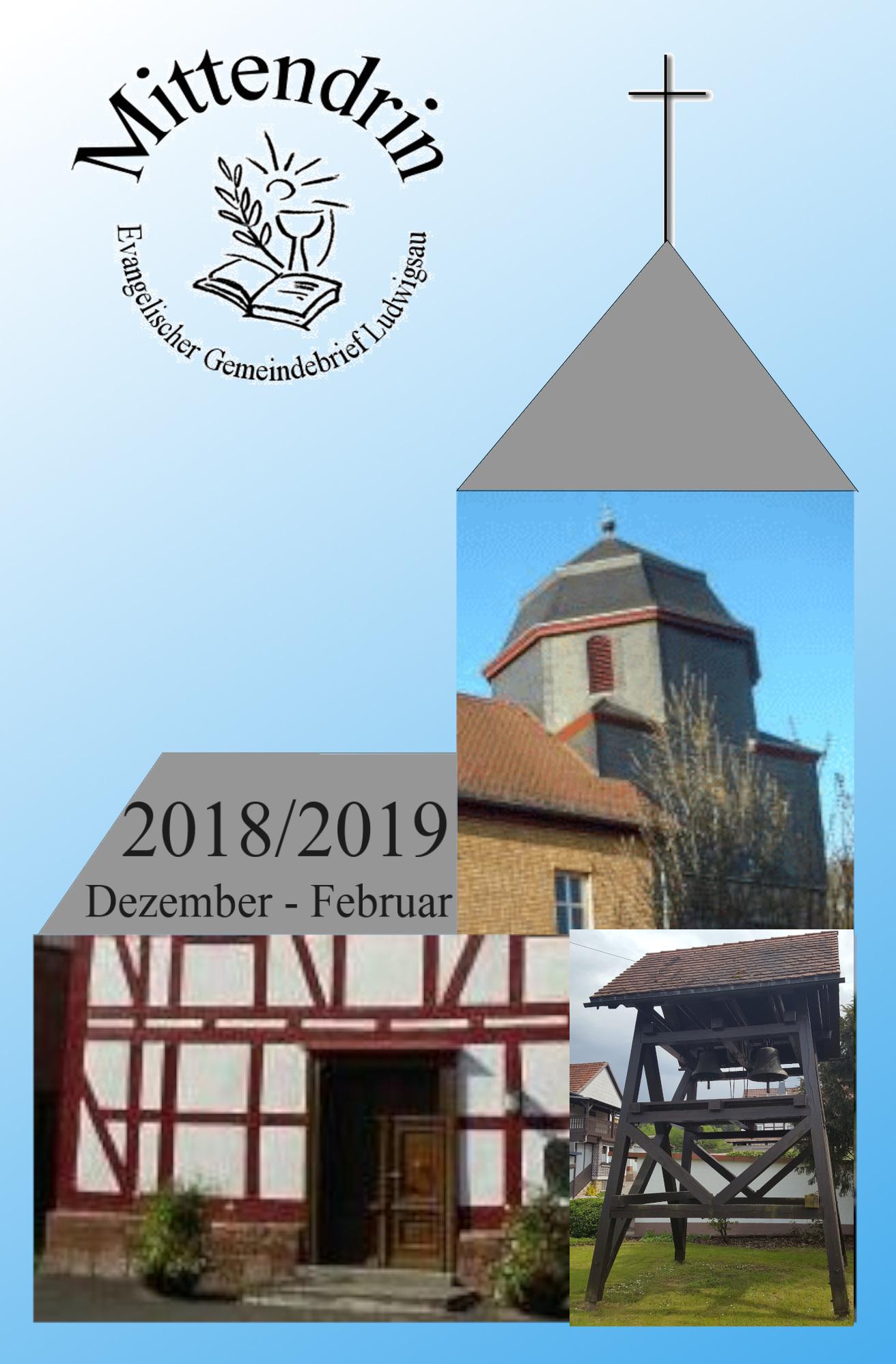 """AKTUELLE AUSGABE: Gemeindebrief 4/2018: """"MITTENDRIN"""""""